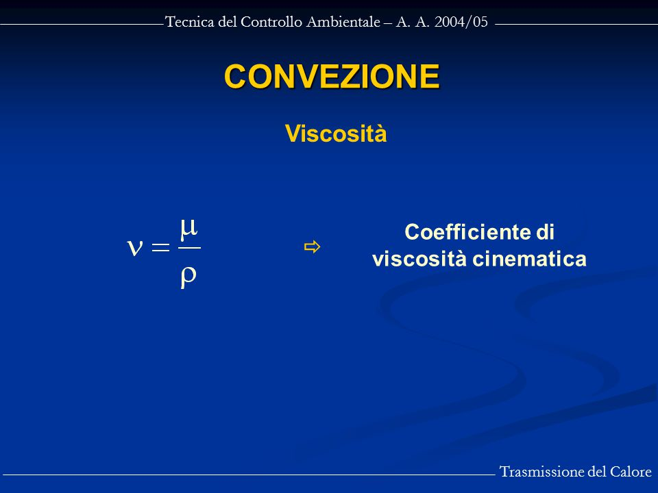 Coefficiente di viscosità cinematica