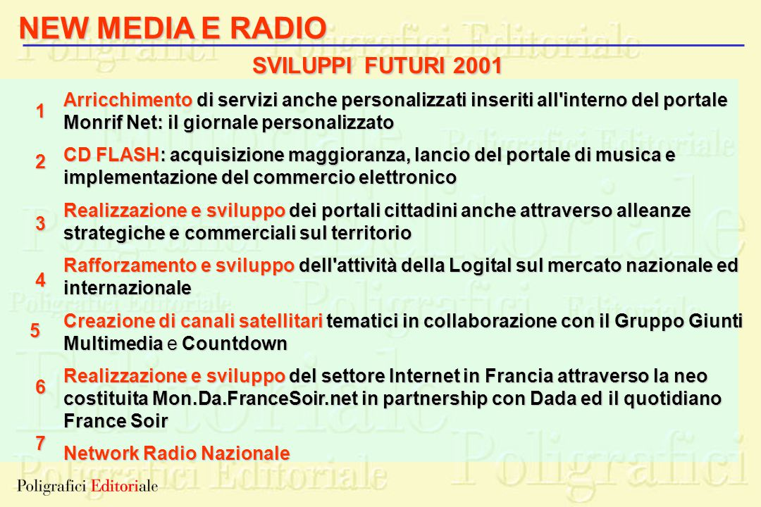 NEW MEDIA E RADIO SVILUPPI FUTURI 2001