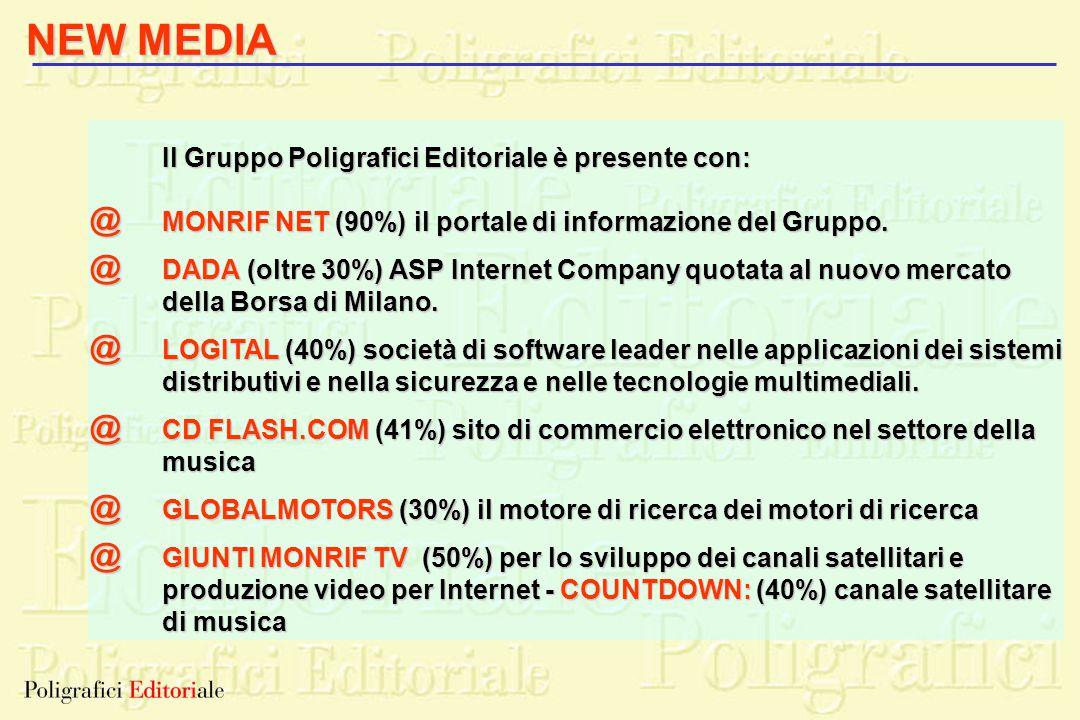 NEW MEDIA @ @ @ @ @ @ Il Gruppo Poligrafici Editoriale è presente con:
