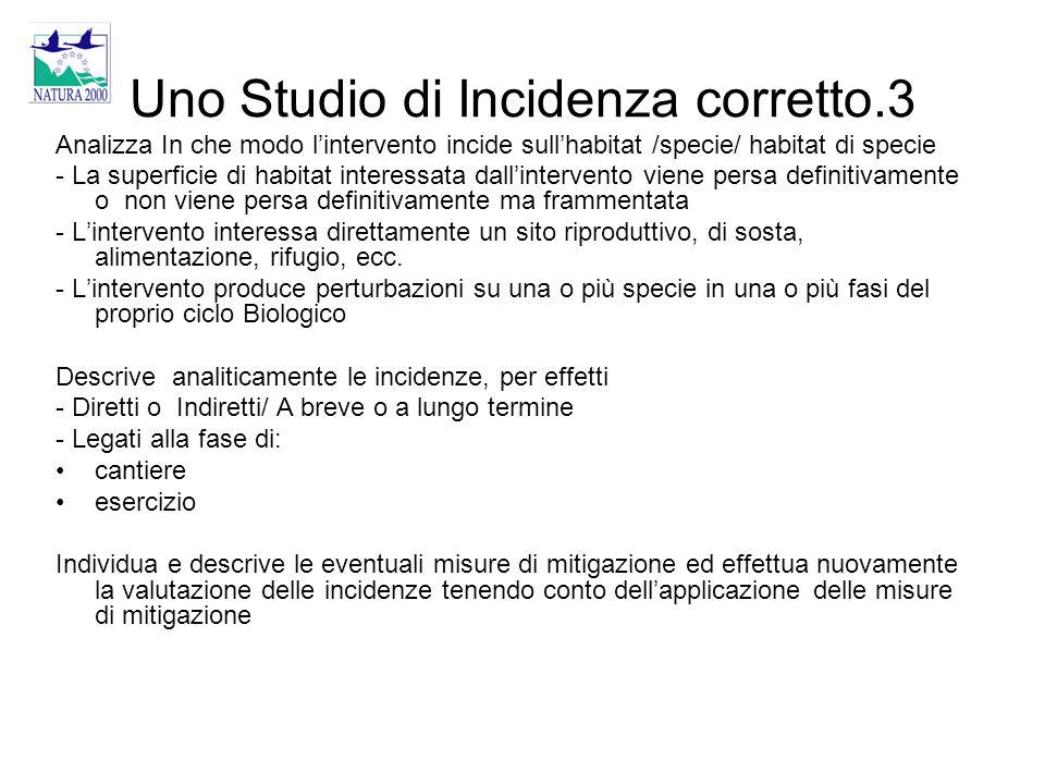 Uno Studio di Incidenza corretto.3