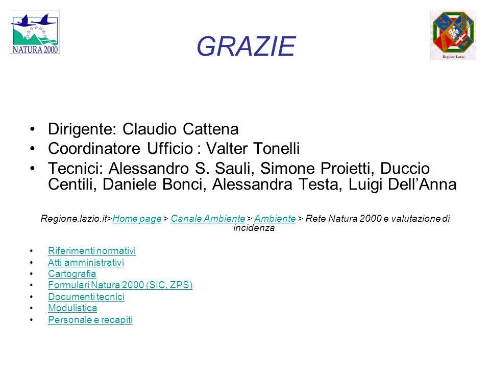 GRAZIE Dirigente: Claudio Cattena
