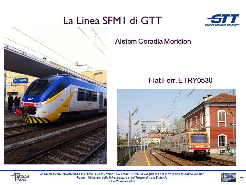 La Linea SFM1 di GTT Alstom Coradia Meridien Fiat Ferr. ETRY0530 25