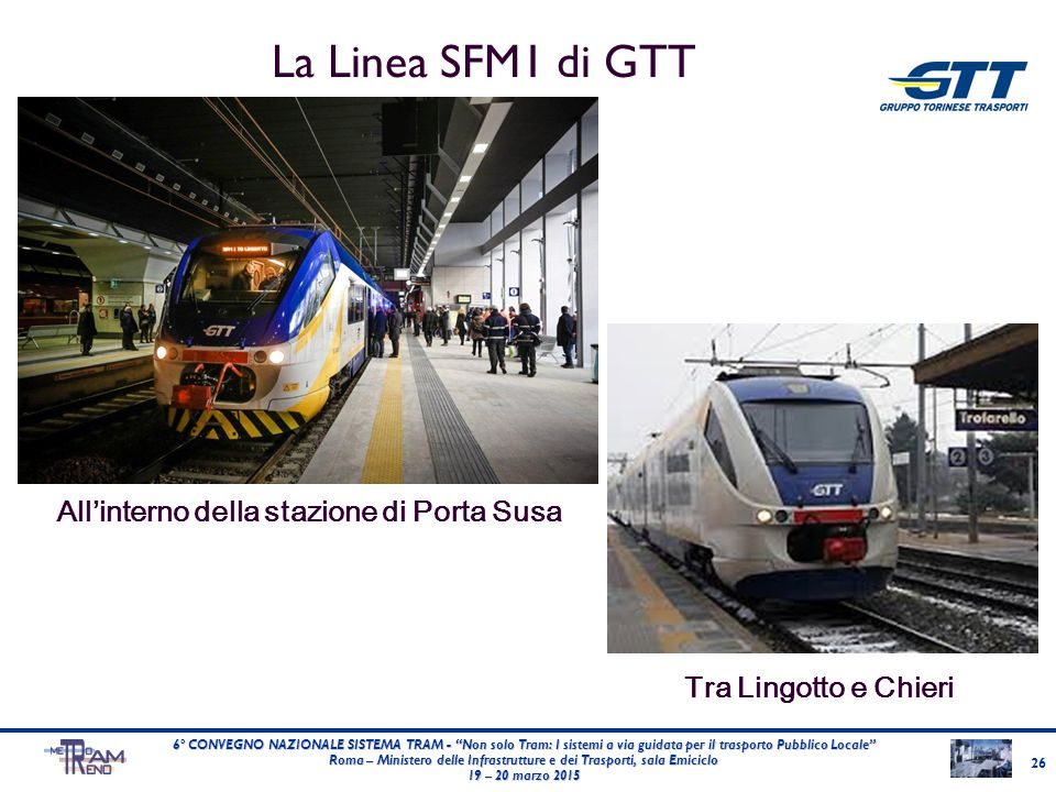 La Linea SFM1 di GTT All'interno della stazione di Porta Susa
