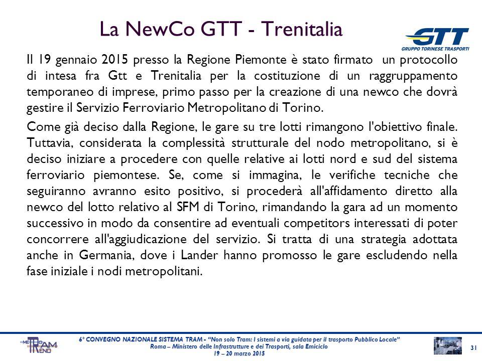 La NewCo GTT - Trenitalia