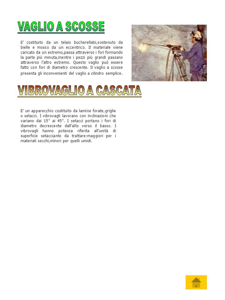 VAGLIO A SCOSSE VIBROVAGLIO A CASCATA