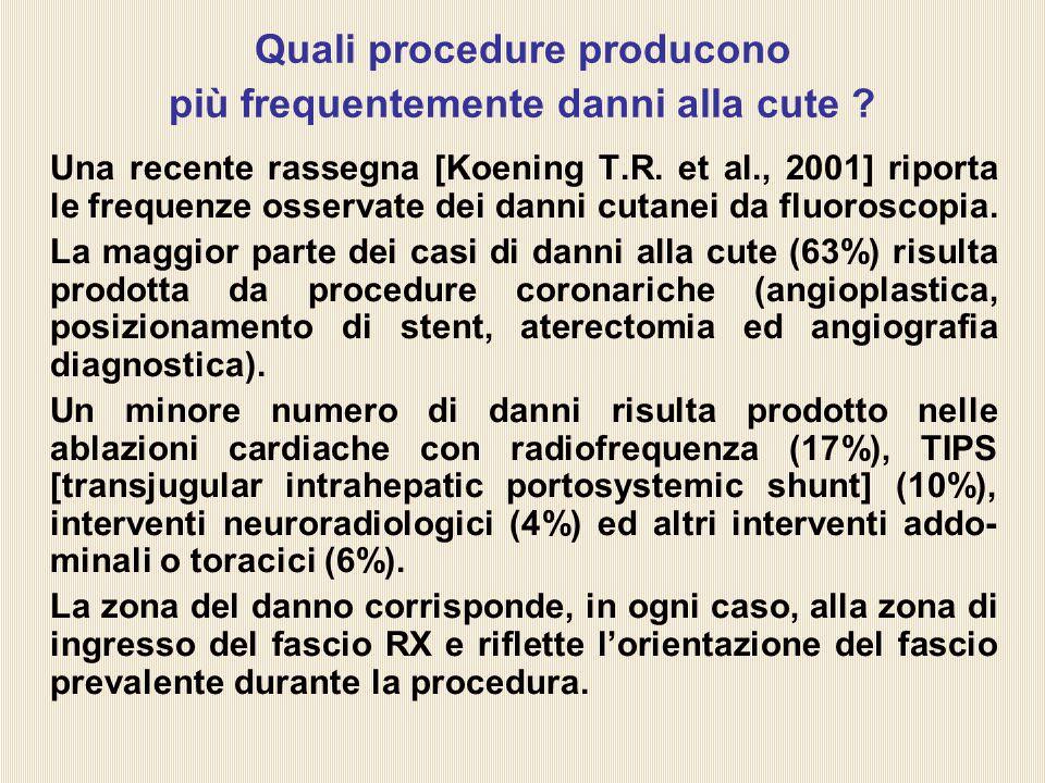 Quali procedure producono più frequentemente danni alla cute