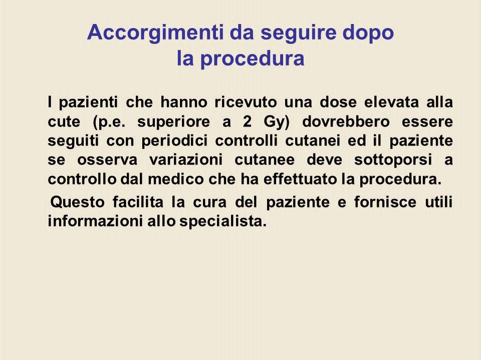 Accorgimenti da seguire dopo la procedura