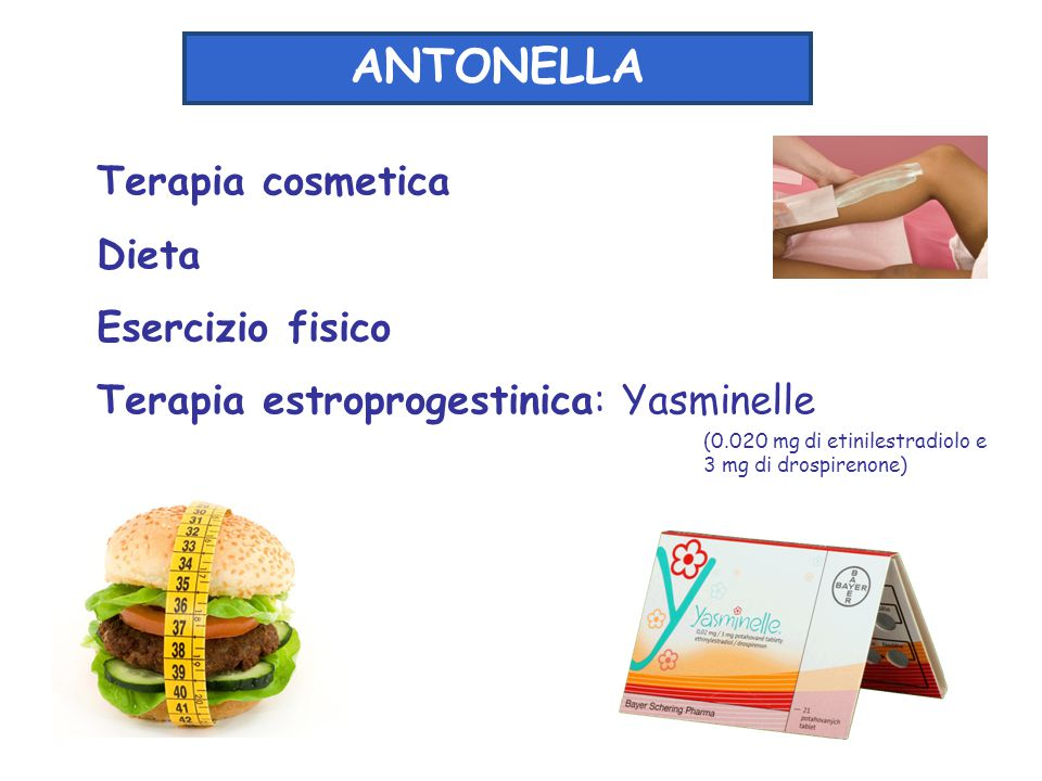 ANTONELLA Terapia cosmetica Dieta Esercizio fisico