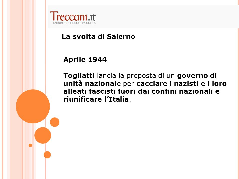 La svolta di Salerno Aprile 1944.