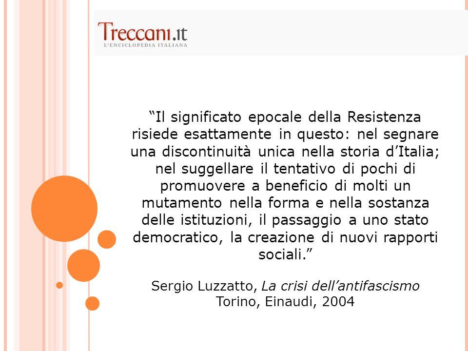 Sergio Luzzatto, La crisi dell'antifascismo
