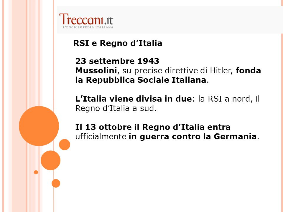 RSI e Regno d'Italia