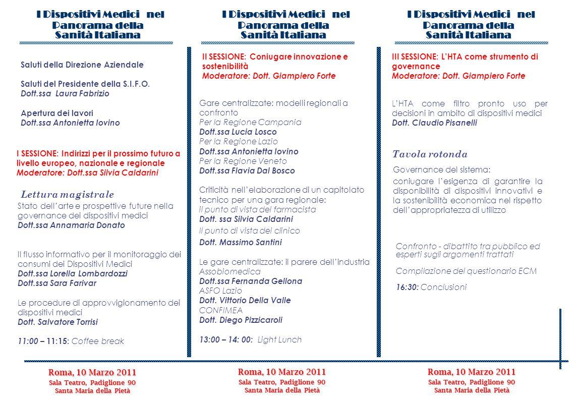 I Dispositivi Medici nel Panorama della Sanità Italiana