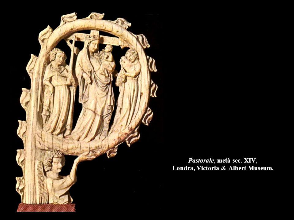 Pastorale, metà sec. XIV, Londra, Victoria & Albert Museum.