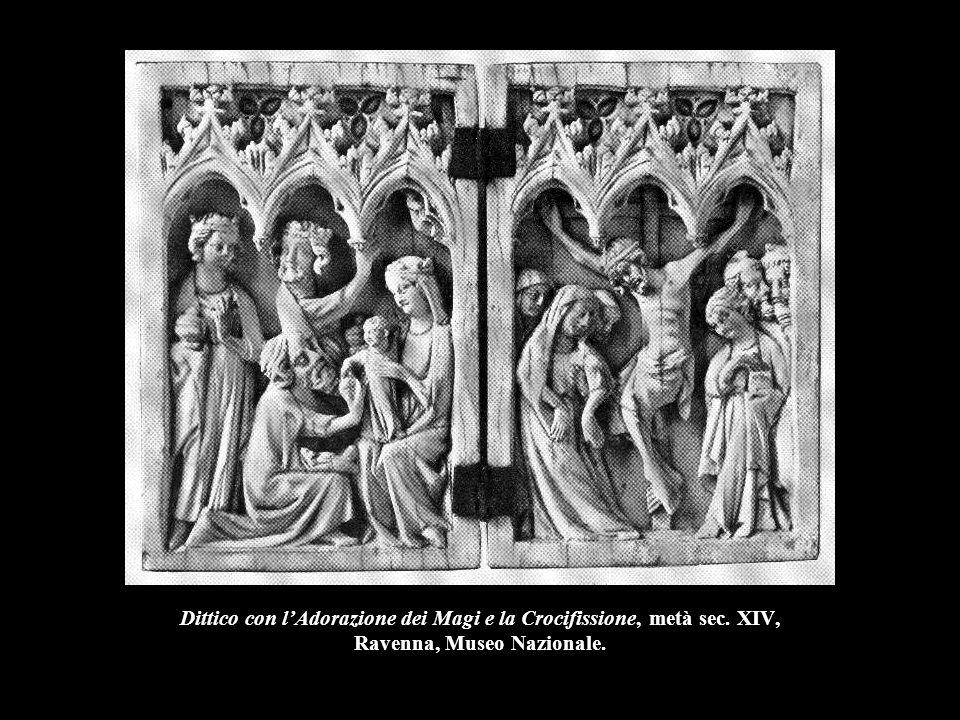 Dittico con l'Adorazione dei Magi e la Crocifissione, metà sec