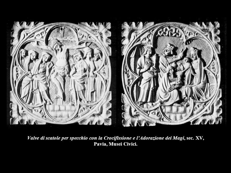 Valve di scatole per specchio con la Crocifissione e l'Adorazione dei Magi, sec.