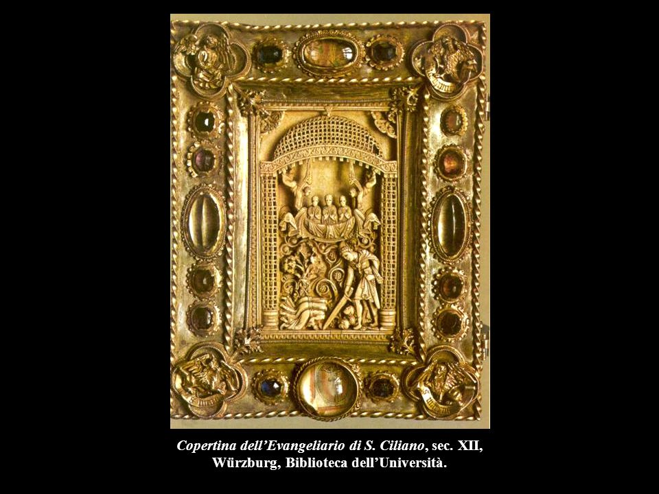 Copertina dell'Evangeliario di S. Ciliano, sec