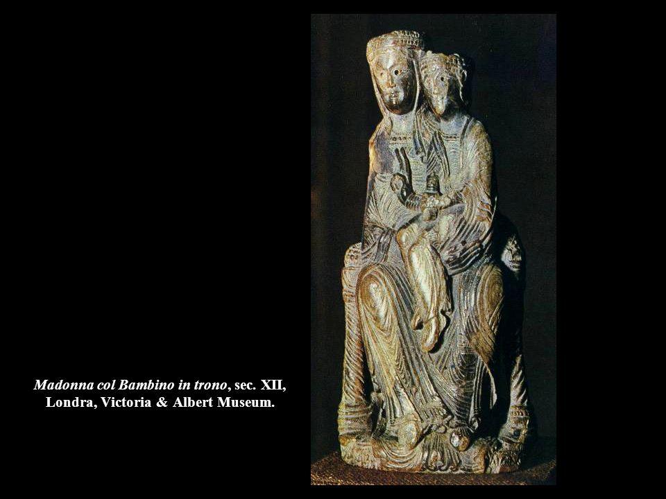 Madonna col Bambino in trono, sec