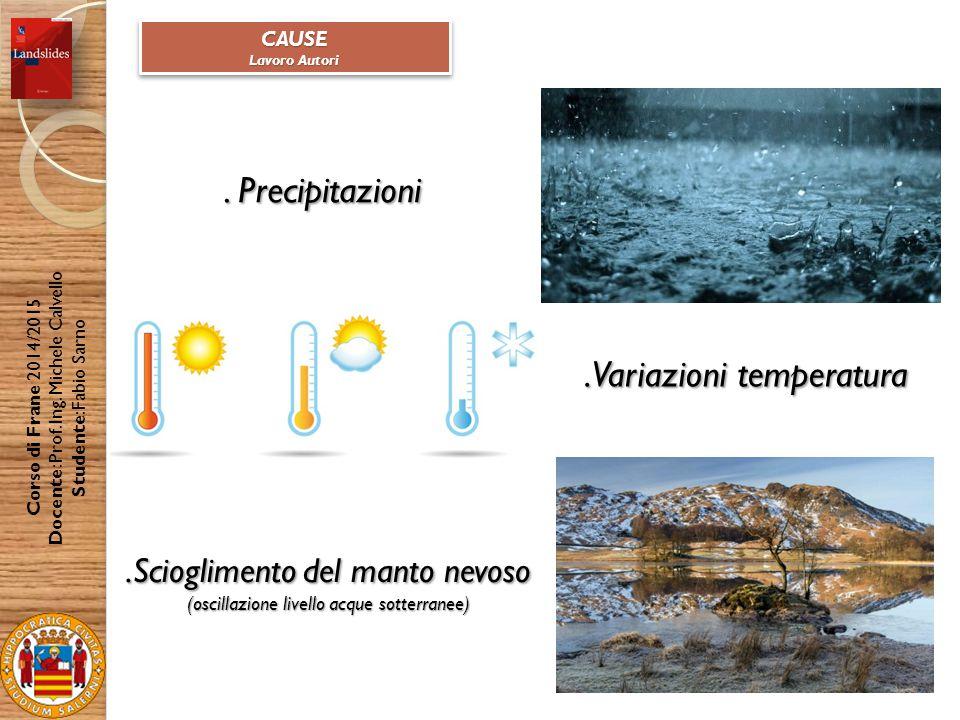 .Variazioni temperatura