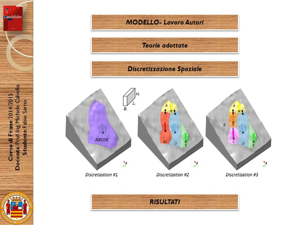 MODELLO- Lavoro Autori Discretizzazione Spaziale