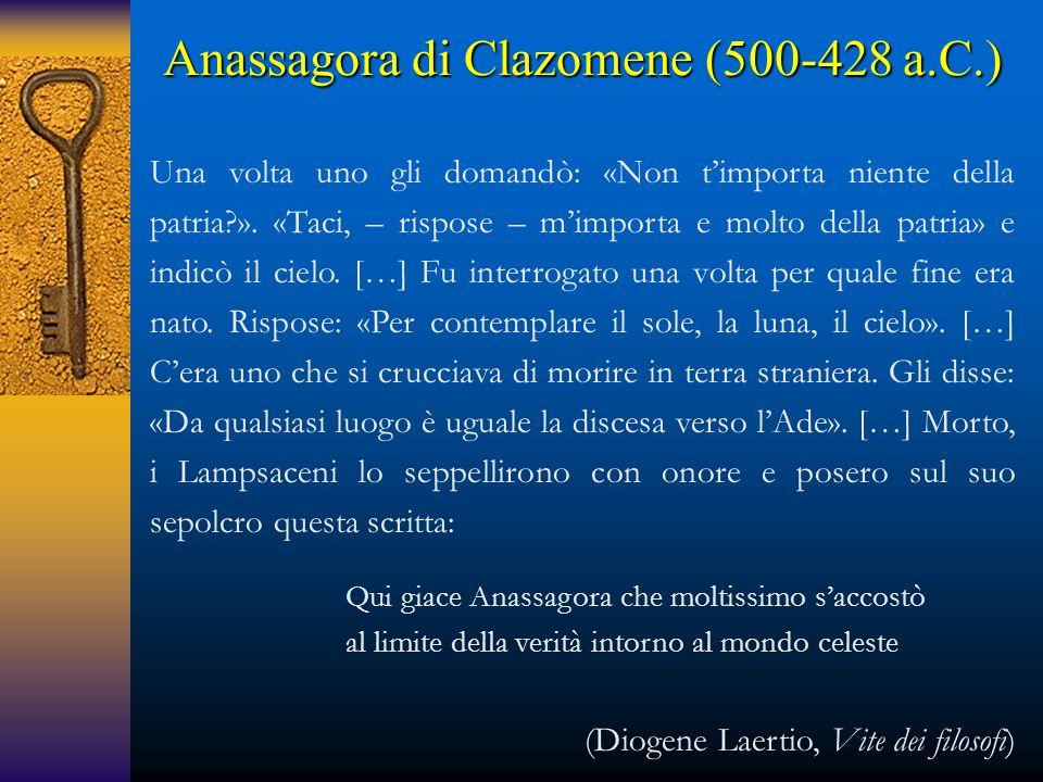 Anassagora di Clazomene (500-428 a.C.)