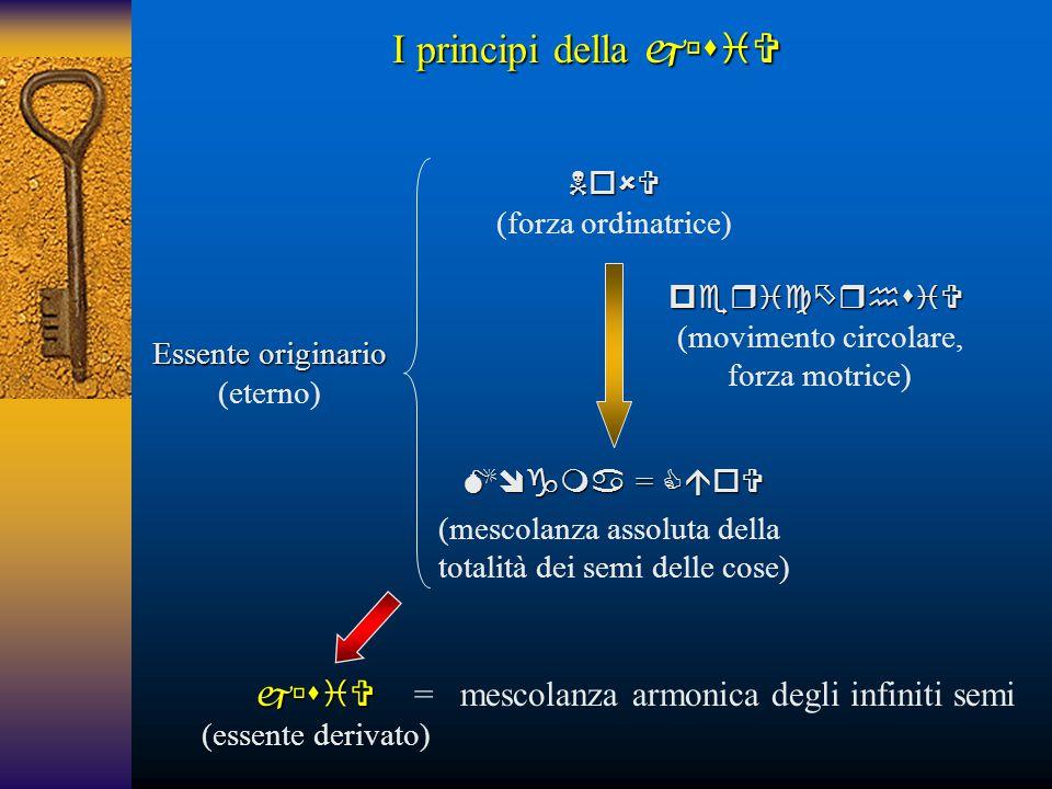 I principi della   = mescolanza armonica degli infiniti semi
