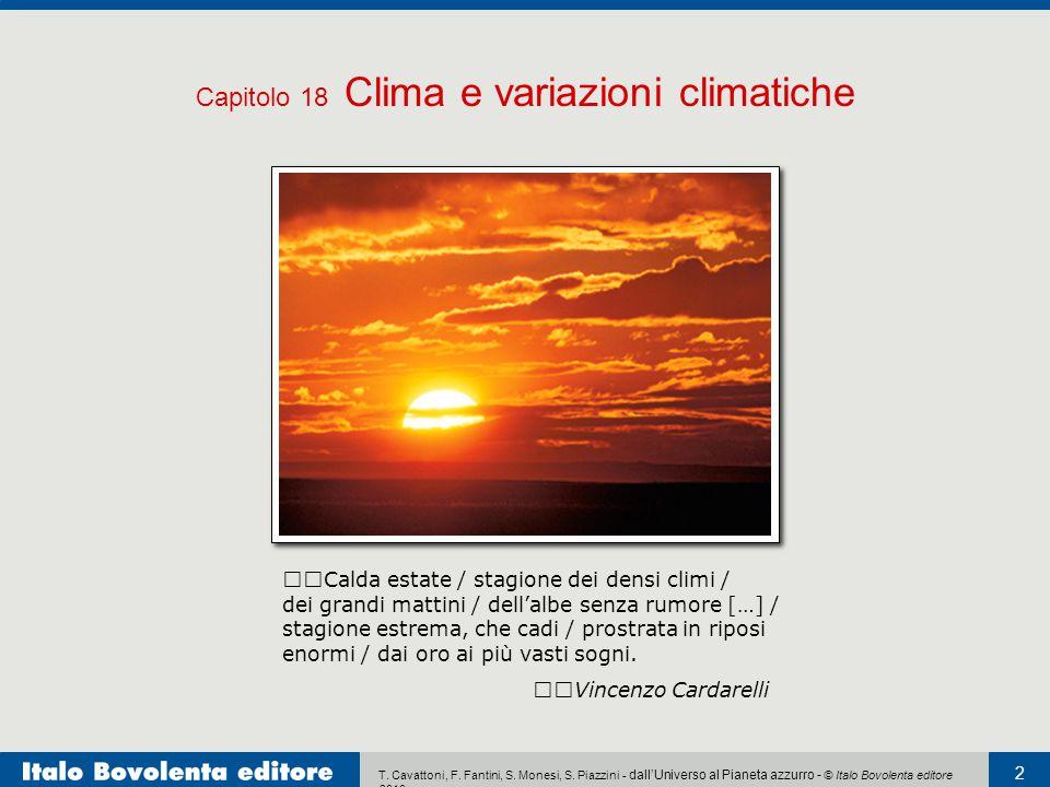 Capitolo 18 Clima e variazioni climatiche