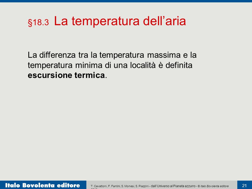 §18.3 La temperatura dell'aria