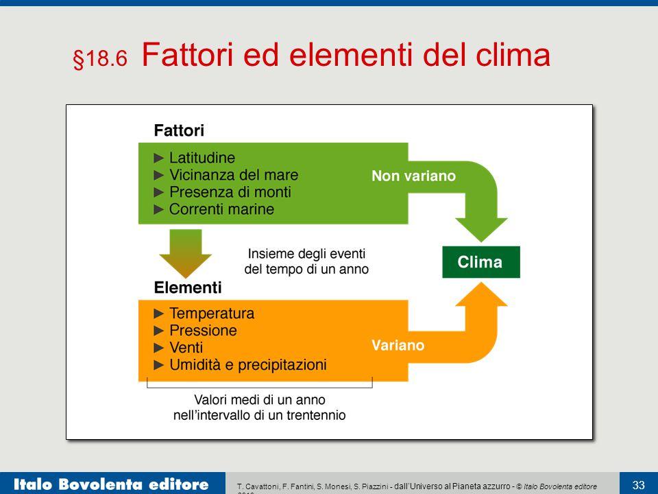 §18.6 Fattori ed elementi del clima