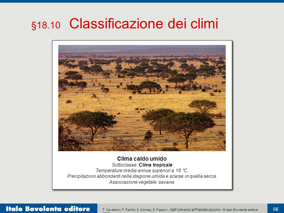 §18.10 Classificazione dei climi