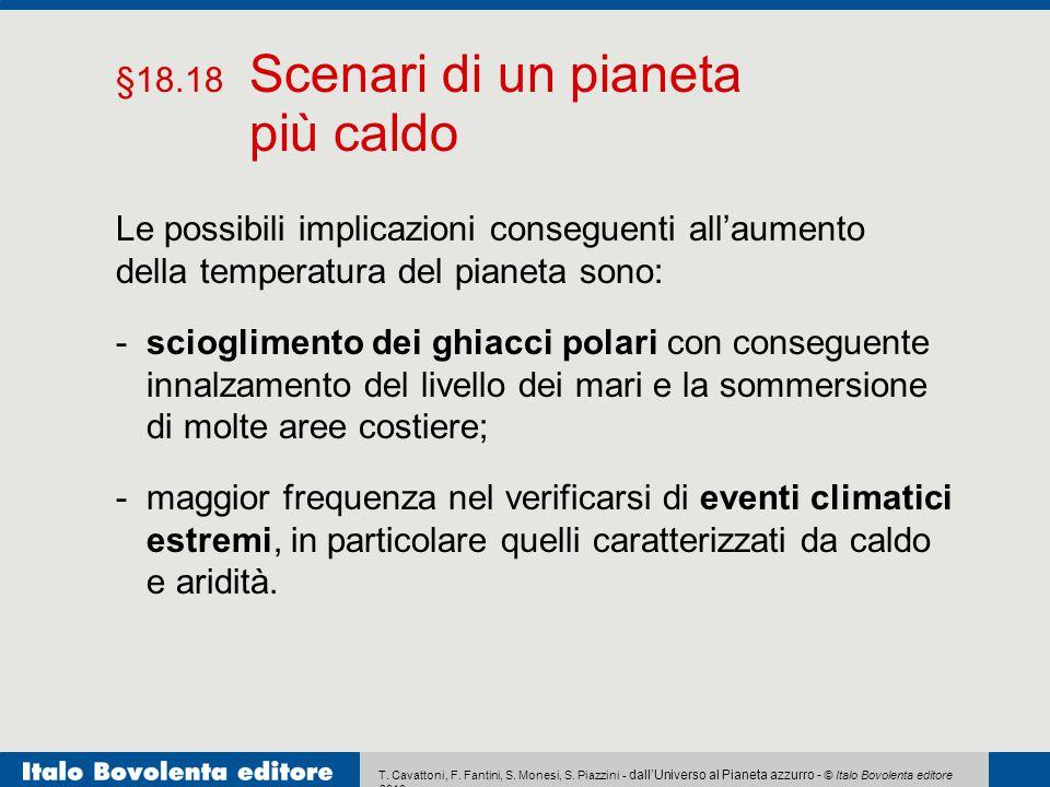 più caldo §18.18 Scenari di un pianeta