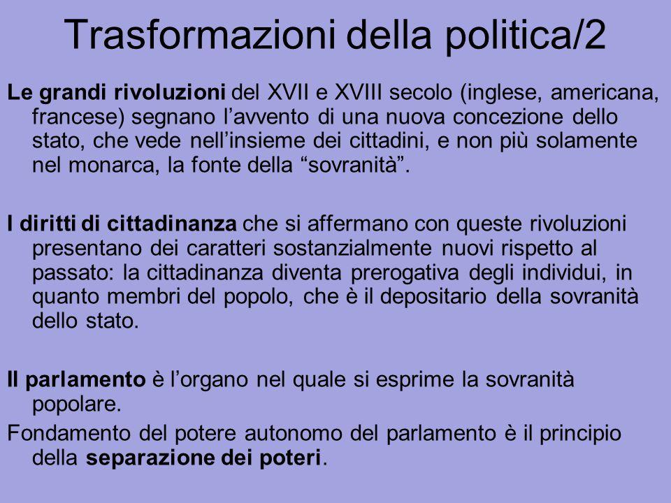 Trasformazioni della politica/2