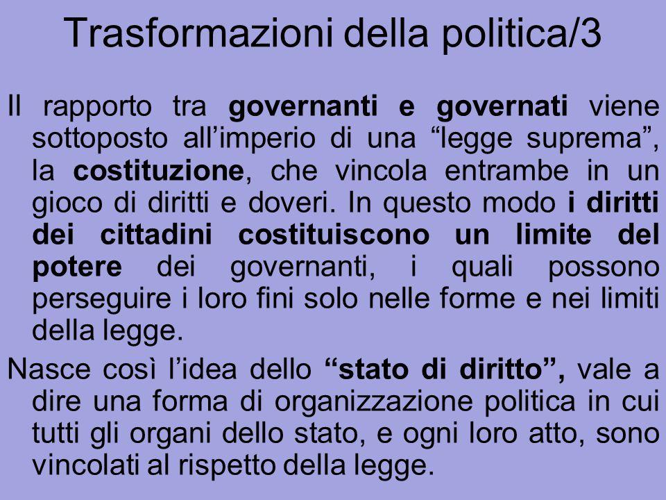 Trasformazioni della politica/3