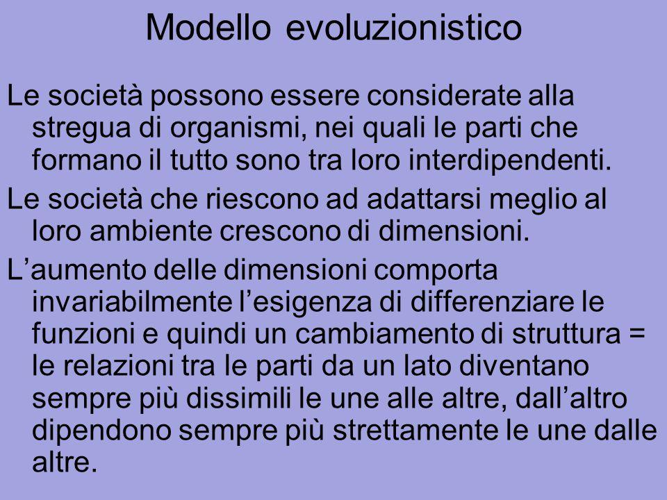 Modello evoluzionistico