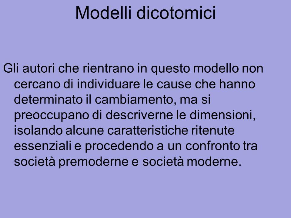 Modelli dicotomici