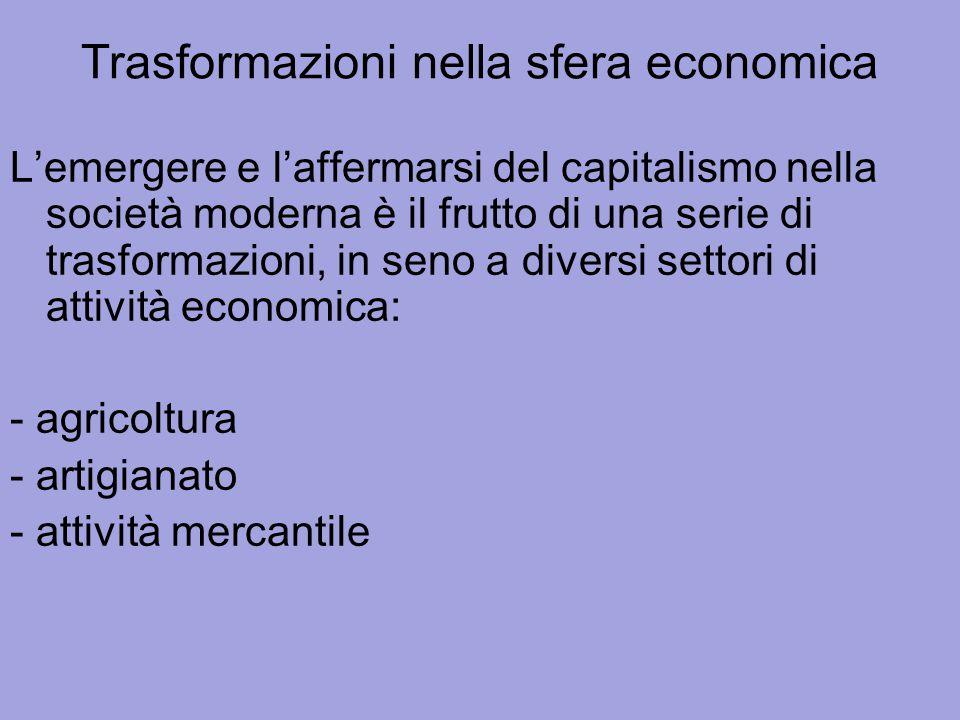 Trasformazioni nella sfera economica
