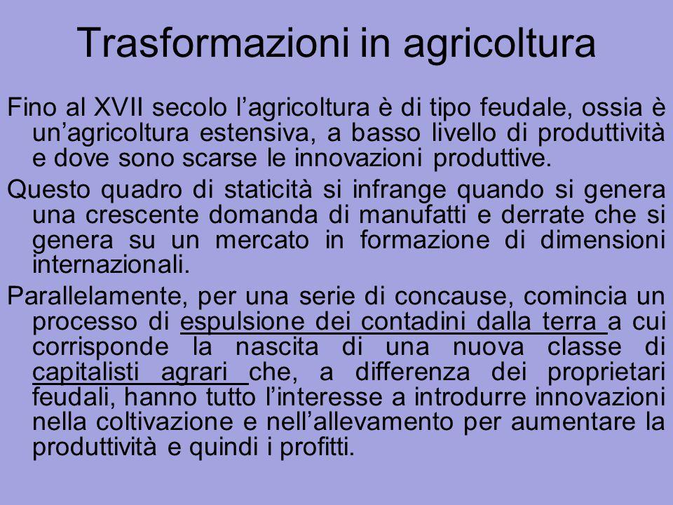 Trasformazioni in agricoltura