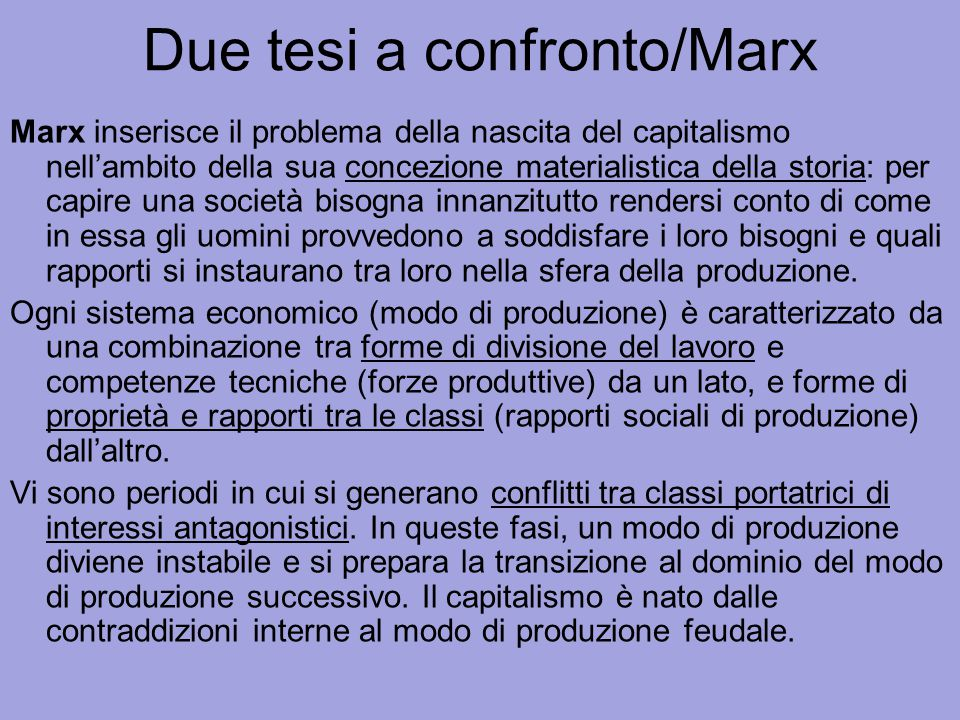 Due tesi a confronto/Marx