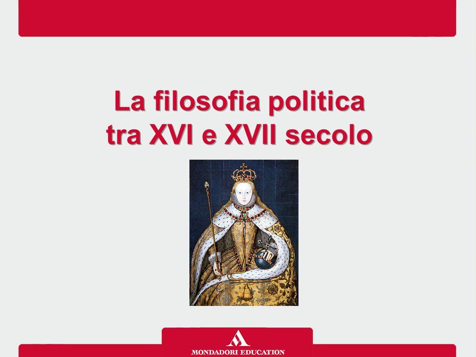 La filosofia politica tra XVI e XVII secolo