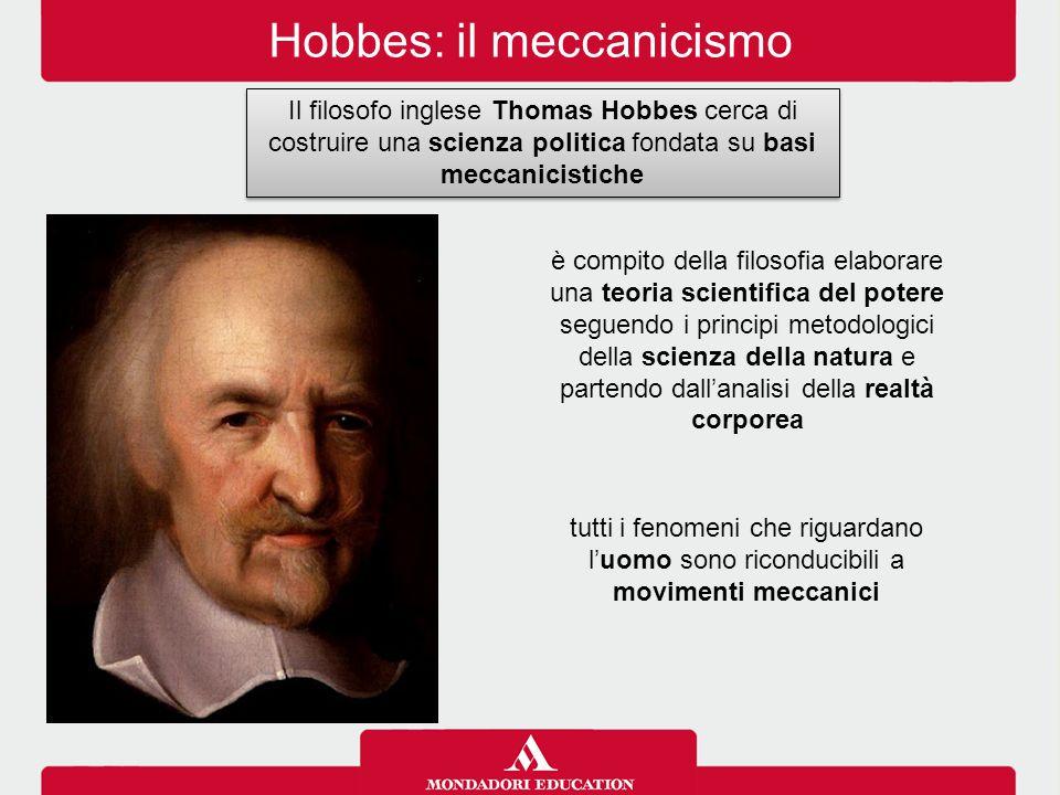 Hobbes: il meccanicismo