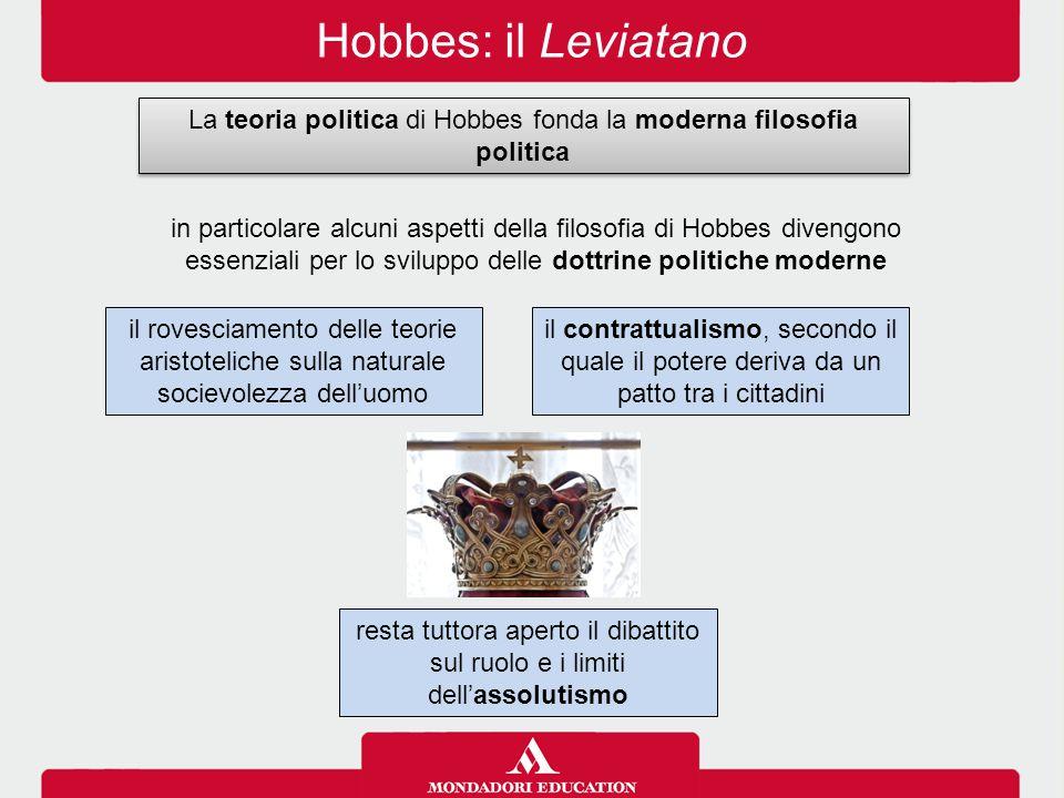 La teoria politica di Hobbes fonda la moderna filosofia politica