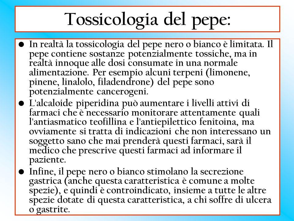 Tossicologia del pepe: