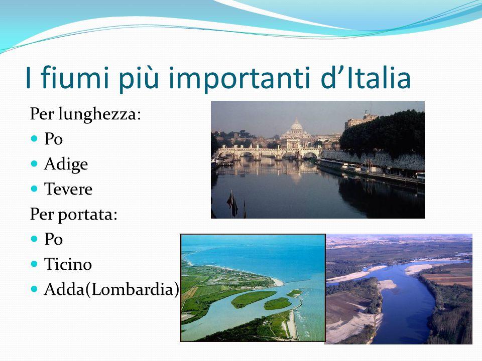 I fiumi più importanti d'Italia
