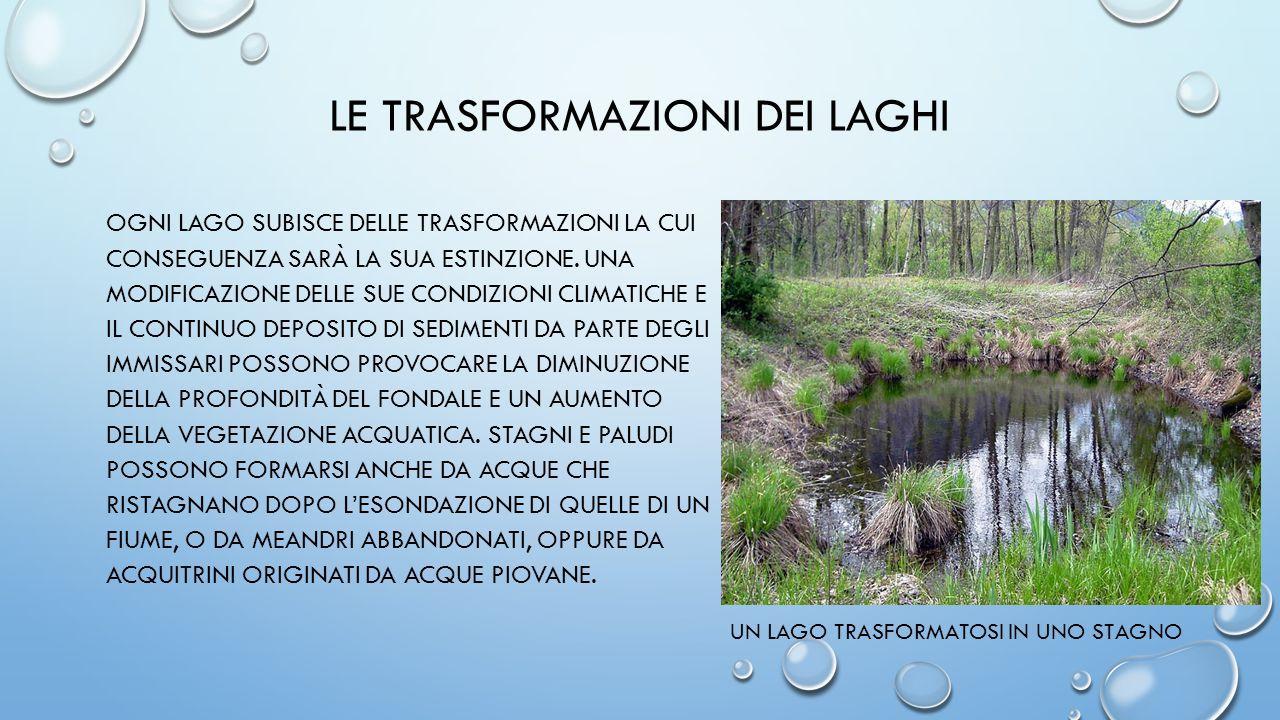 Le trasformazioni dei laghi