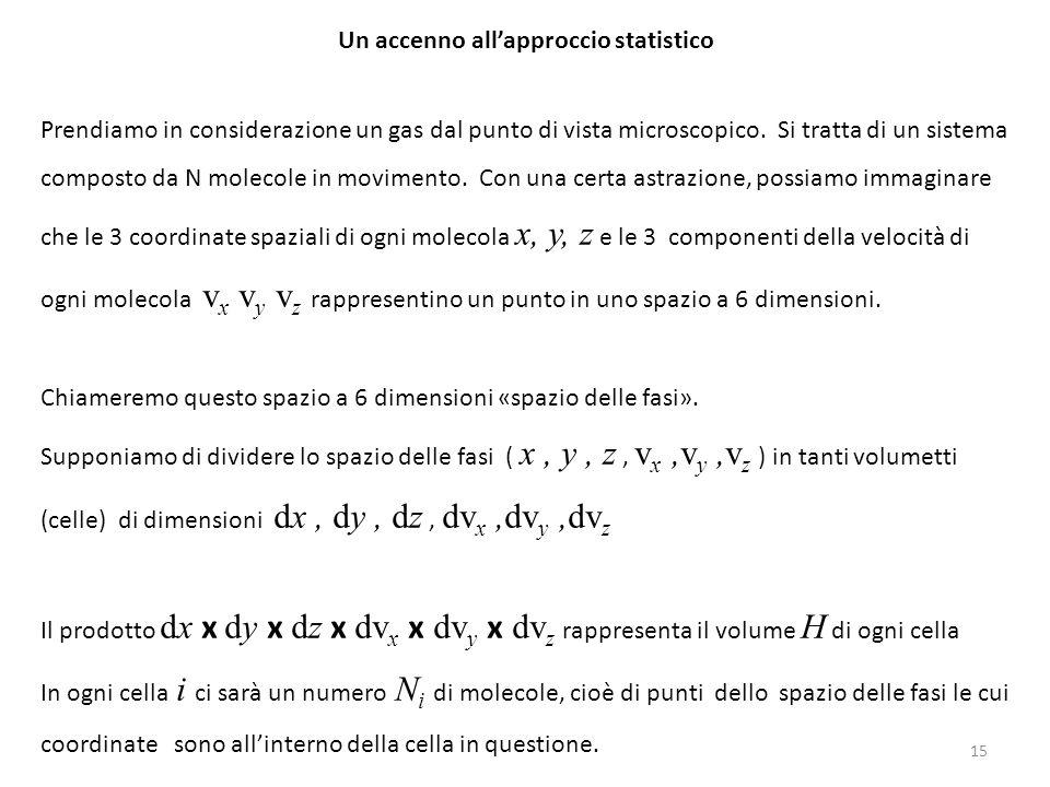 Un accenno all'approccio statistico