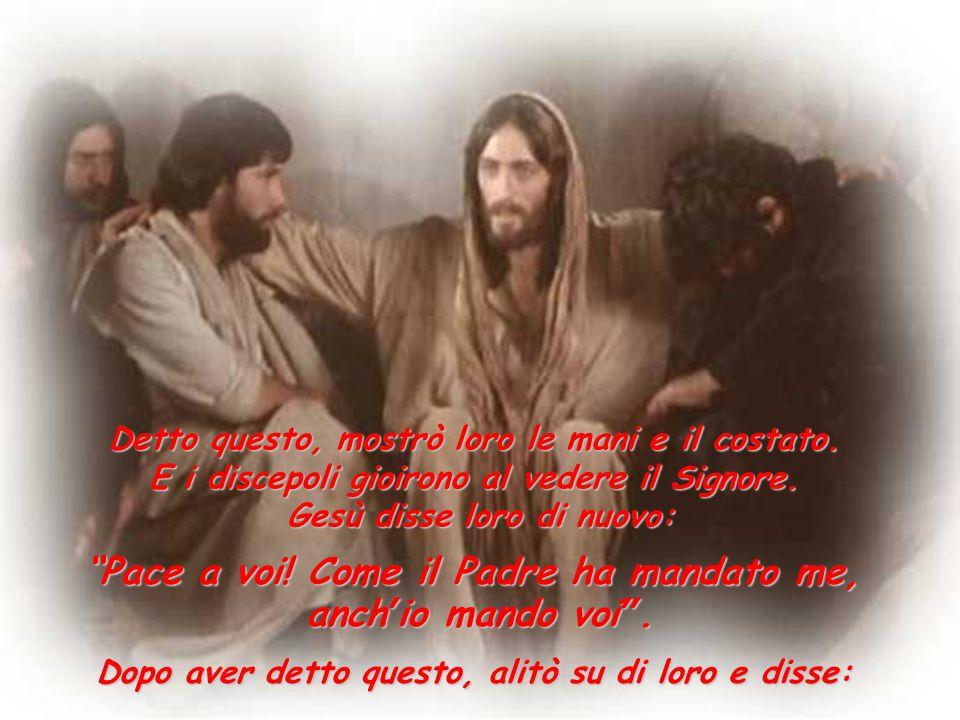 Pace a voi! Come il Padre ha mandato me, anch'io mando voi .