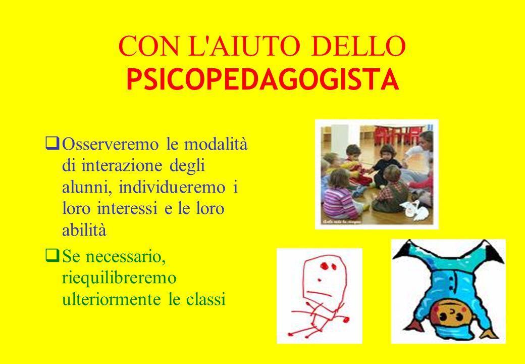 CON L AIUTO DELLO PSICOPEDAGOGISTA