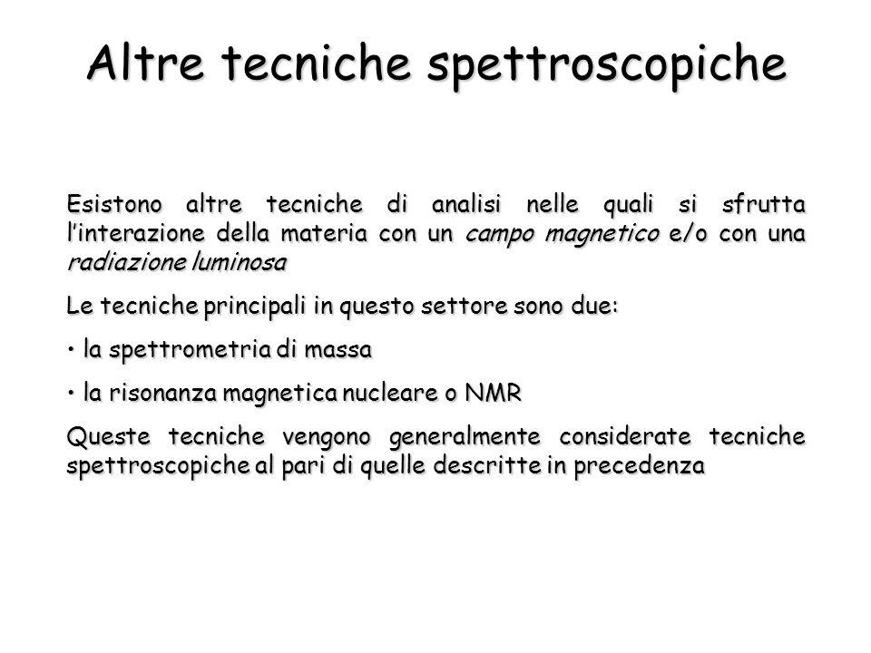 Altre tecniche spettroscopiche