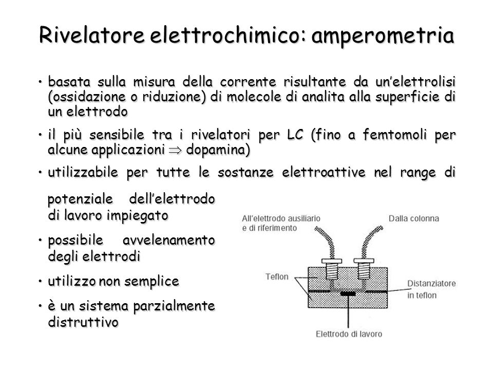 Rivelatore elettrochimico: amperometria