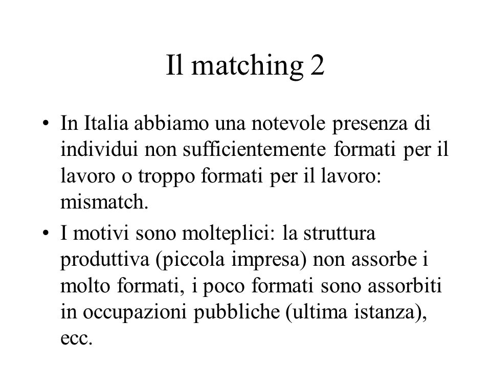 Il matching 2