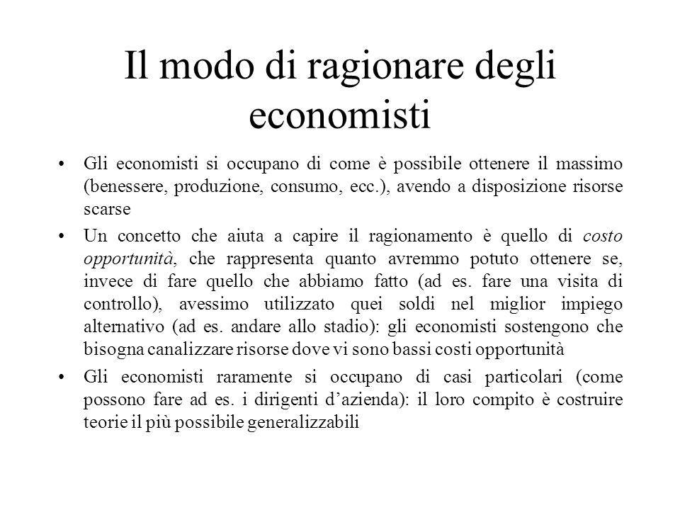 Il modo di ragionare degli economisti